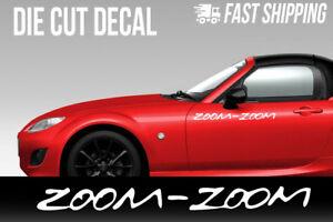 Zoom Zoom Mazda Decal Miata Rx7 Rx8 Mazdaspeed 3 6 Protege Car