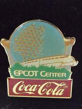 1986 Disney Coke Anniversary Coca Cola Epcot Center Monorail LE 1000 Pin Rare