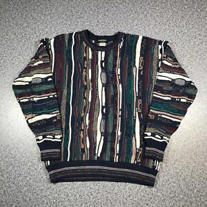 Vintage-90s-ALBERTO-DANTI-Cosby-Style-Mens-Sweater-XL-3D-Knit-Jumper