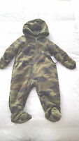 Cuddle Bear Camouflage Snowsuit Sz. 6 Months Green Camo