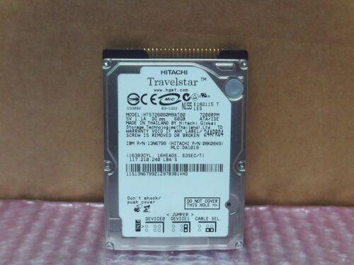 """Hitachi 60GB 7200 RPM HTS726060M9AT00 2.5/"""" IDE Hard Drive"""
