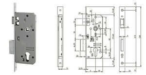 ISEO-200N501-LOCK-SLIDE-DOOR-WOOD-ENTRANCE-1-31-32in-FRONTAL-BRASS-LATCH