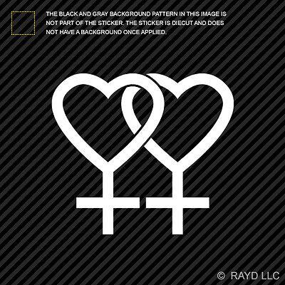 Gay Pride Lesbian Symbol Sticker Die Cut Decal #2