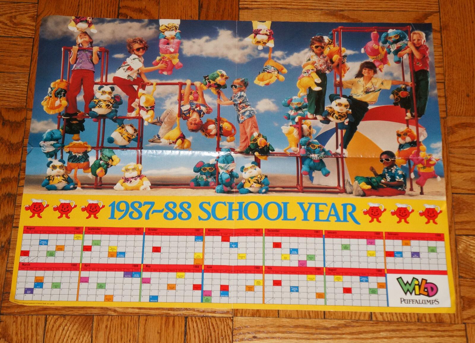 Fisher Price PUFFALUMP POSTER 1987 1988 School Year KOOL STÖD årgång 1980 -talet