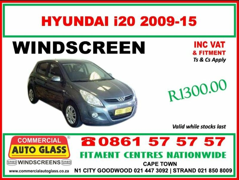 Hyundai i20 Windscreen SPECIAL - Commercial Auto Glass Windscreens