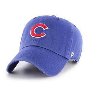 0f1496d0513 Chicago Cubs  47 Brand Royal Blue Clean Up Adjustable Dad Hat