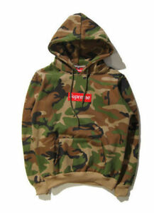 Supreme Box Logo Camouflage Men Hoodie Unisex Hooded ...