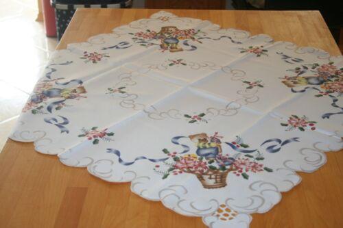 Moyens Couverture 90 X 90 cm motif ourson de Noël Nappe ours de Noël