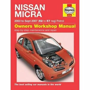nissan micra owner s workshop manual 03 10 by anon paperback 2015 rh ebay co uk 2003 Nissan Maxima Owners Manuals 2009 Nissan Altima Manual