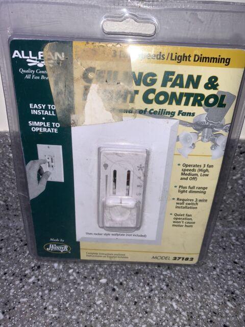 Hunter Ceiling Fan Fan  Light Dual Slide Wall Control 3