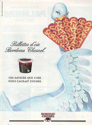 Publicité 1991 BORDEAU CHESNEL rillettes d'oie | eBay