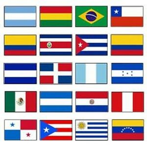 latin america 2x3 flag set of 20 country countries polyester flags