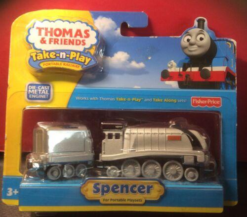 """THOMAS /& FRIENDS TAKE-N-PLAY DIECAST METAL ENGINE """"SPENCER /& TENDER"""""""