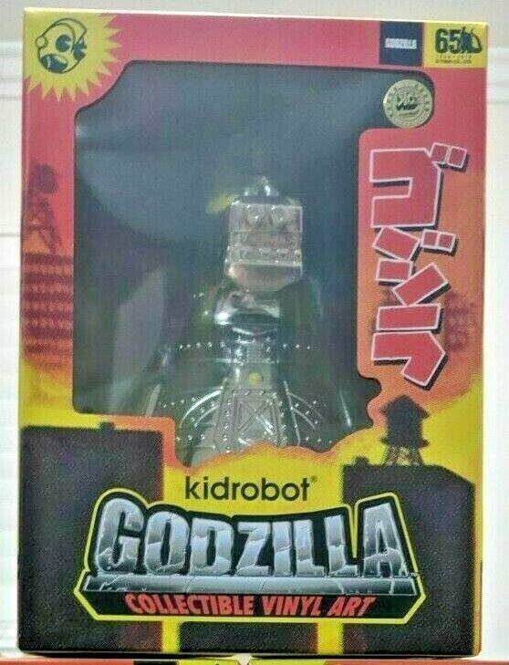 ordene ahora los precios más bajos San Diego comic-con 2019 2019 2019 Kidrobot mecha Godzilla 8  figura de vinilo de arte electrodeposición de cromo edición limitada 500  ventas en linea