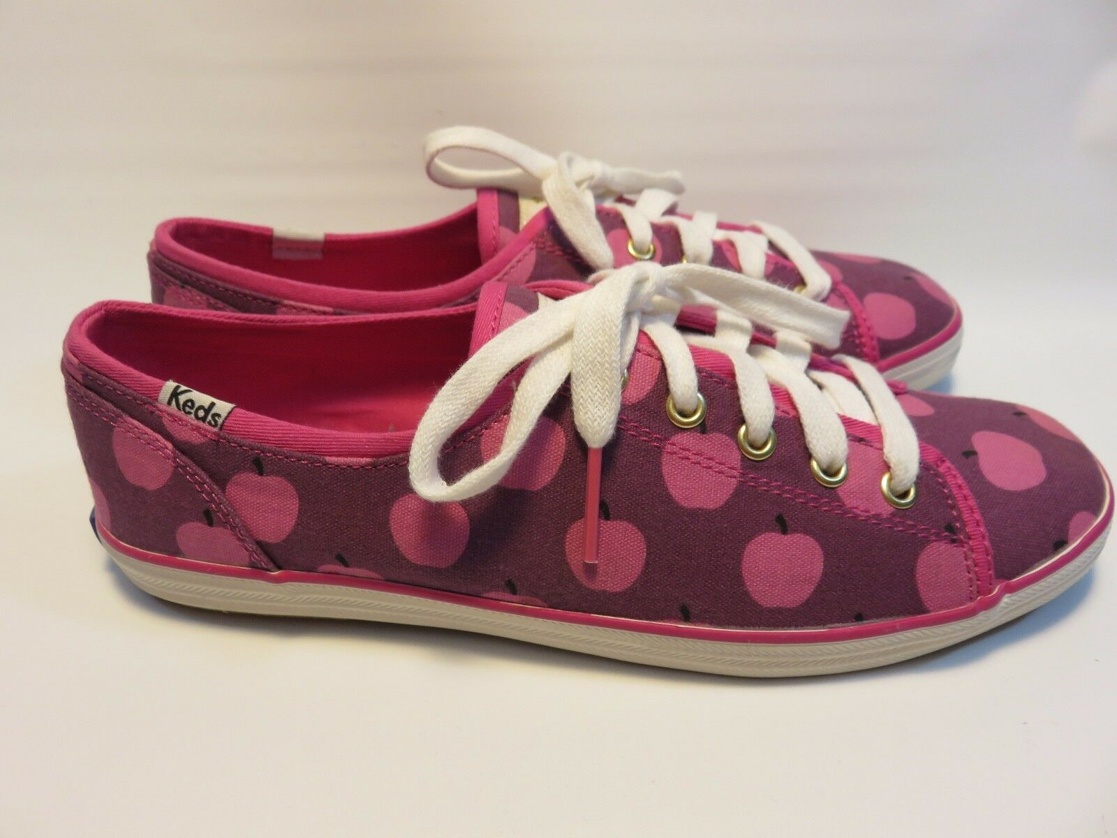 Kate Spade New York Keds Pink Apple Sneakers Size 7.5; New without Box