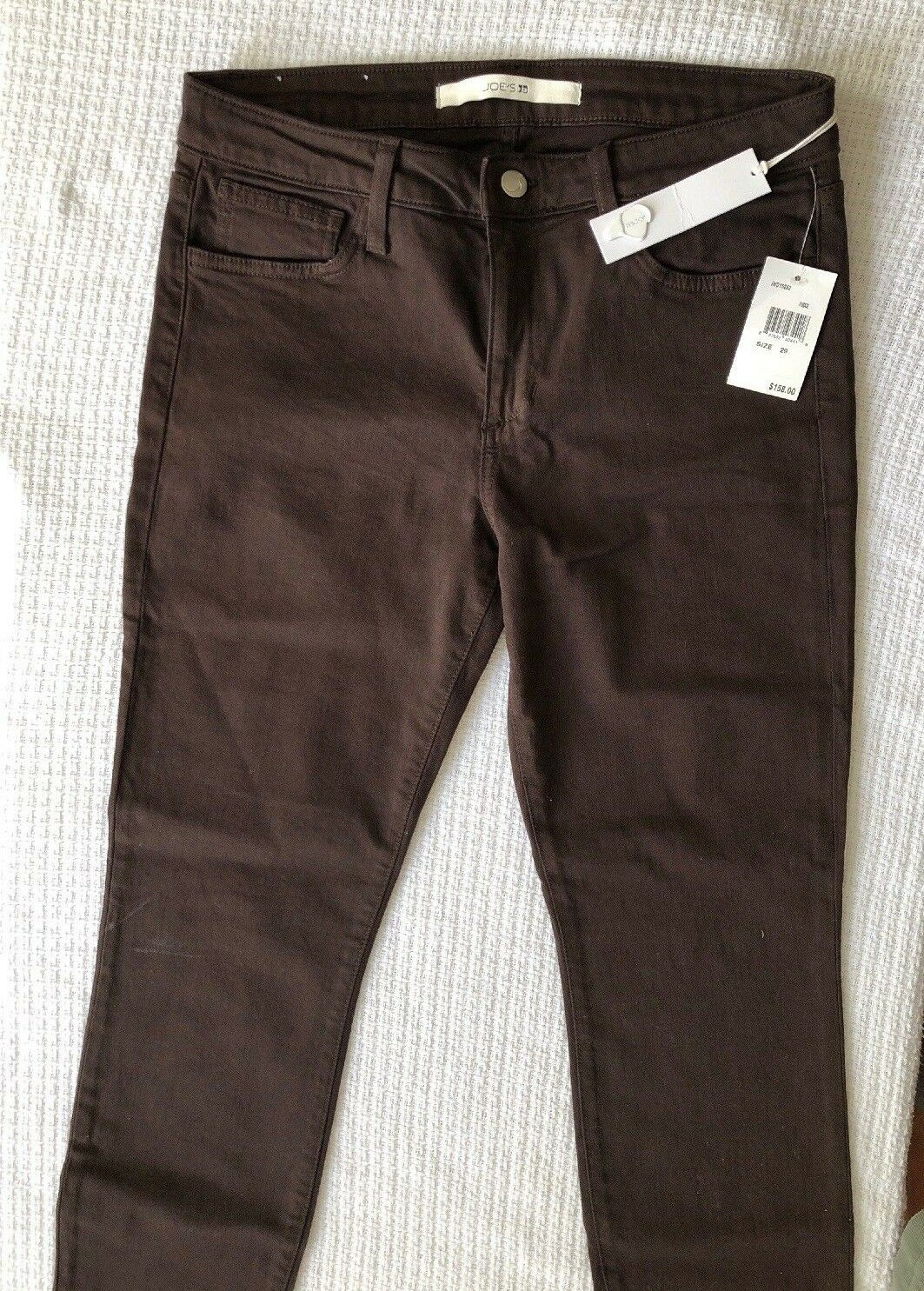 NWT JOE'S Size 29 x 31 Skinny MIDRISE SKINNY STRETCH Fudge Brown JEANS
