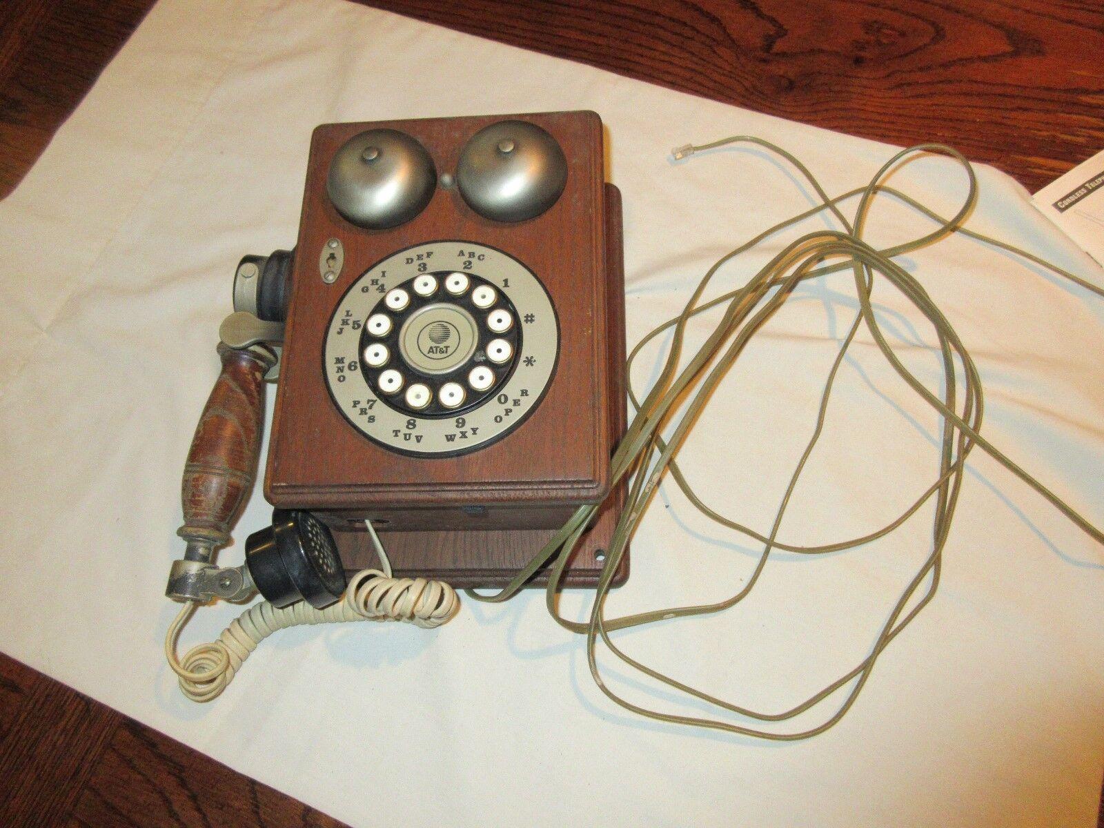 Telephones , Antique , Vintage , Rare , Brown Wood Tele