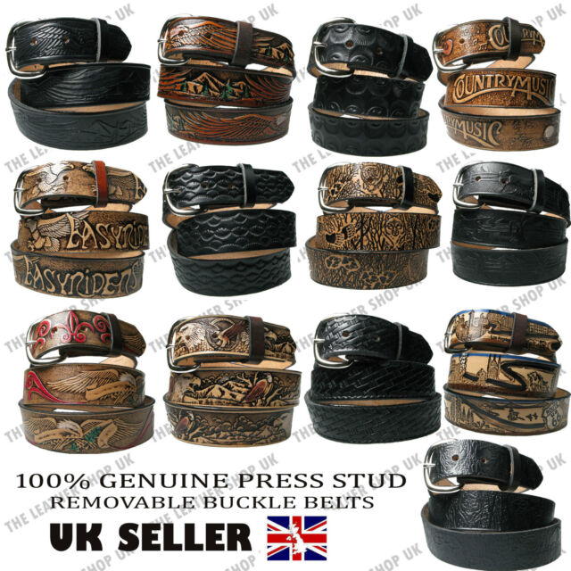 New Mens Superdry Brown Western Classic Leather Belt Belts