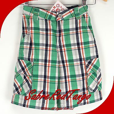 NWT HANNA ANDERSSON ALL OUT CARGO SHORTS MULTI PLAID 120 7