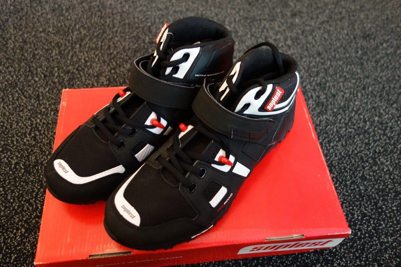 Offroad  Suplest alpina MTB zapatos negro blancoo  el estilo clásico