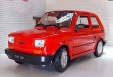 Welly FIAT 126 Bambino rot Modellauto 42372 1:28