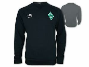 Umbro-Werder-Bremen-Travel-Sweat-Top-schwarz-Pullover-SVW-Fan-Sweatshirt-S-3XL
