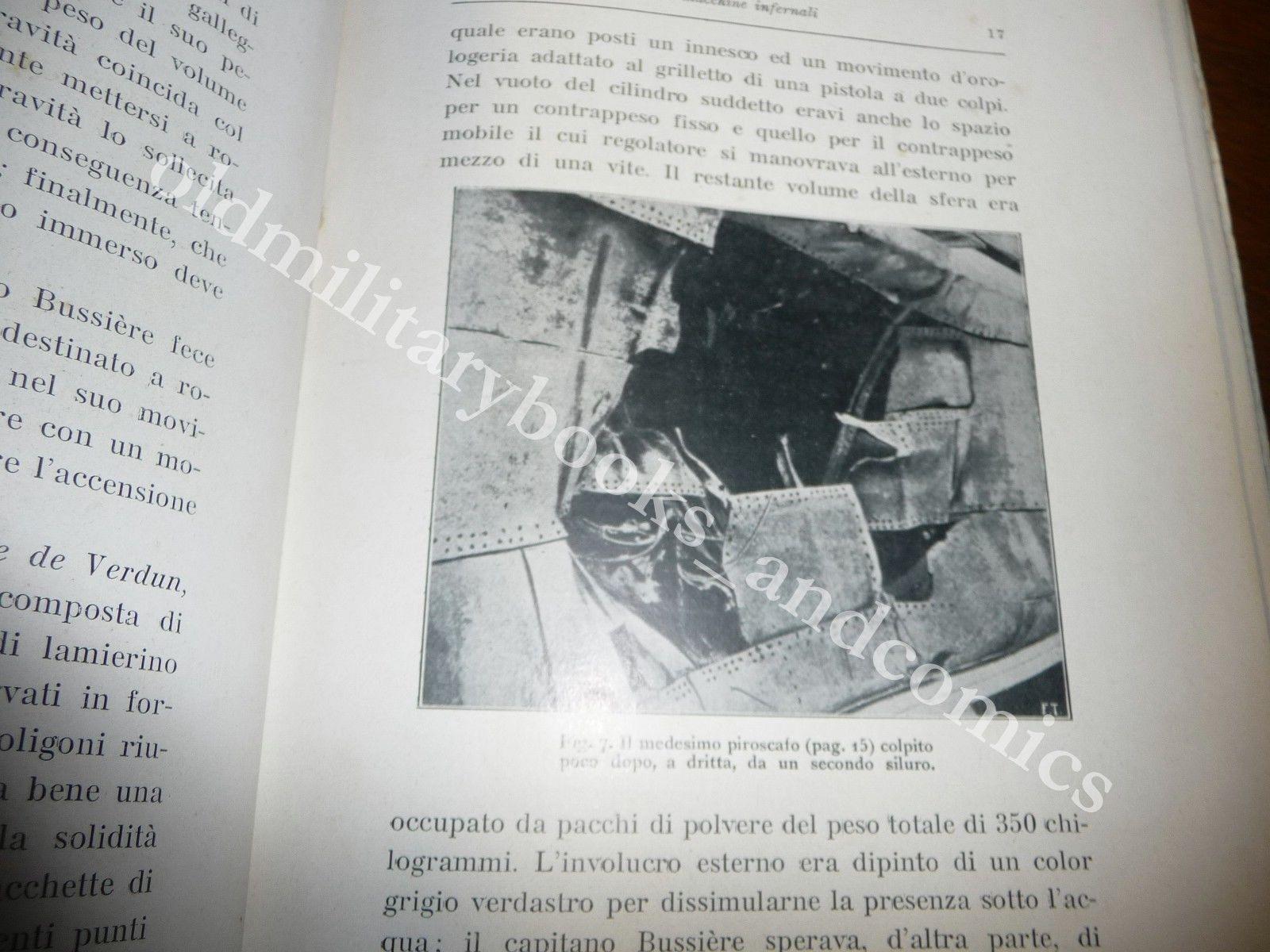 MACCHINE INFERNALI SILURI E LANCIASILURI ESPLOSIVI DA GUERRA ETTORE BRAVETTA