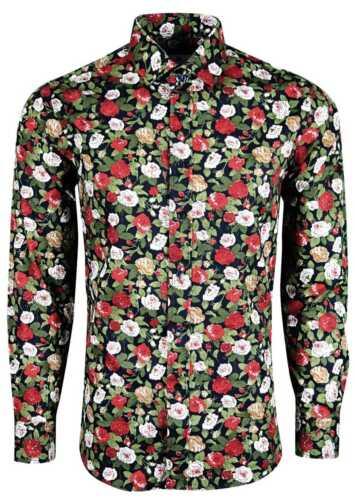 Homme Motif Floral Chemise Pour Mariage Fête Party formelle Casual £ 18.99 452