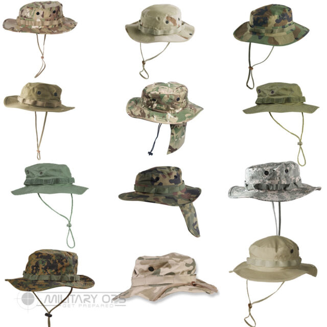 HELIKON ARMY MILITARY GI BOONIE JUNGLE BUSH HAT HIKING POLISH WOODLAND CAMO S-XL