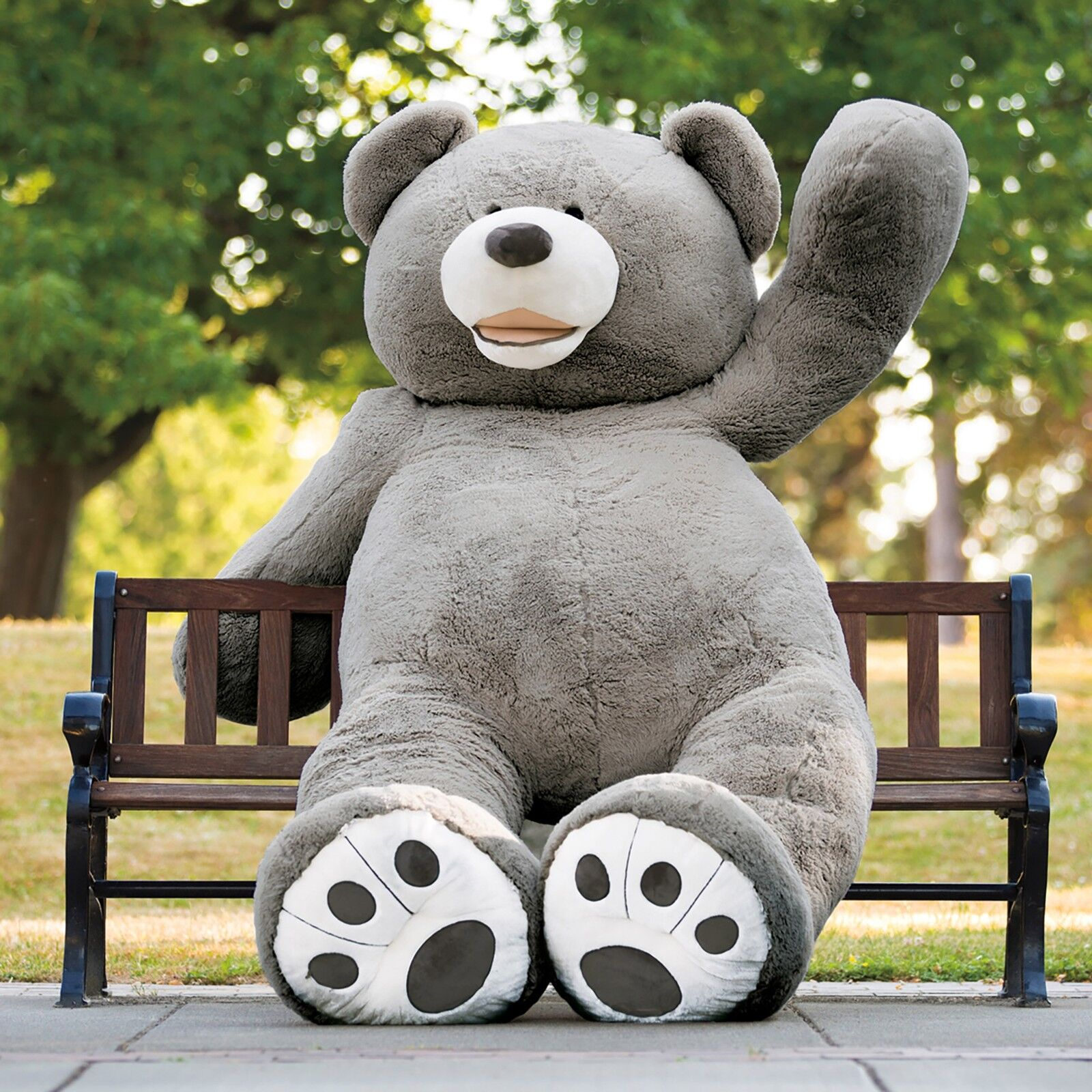 93''/230cm Grey Bear Plush Teddy Bear Giant Stuffed Animal