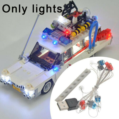 DE USB LED Licht Beleuchtung Kit Für Lego 21108 Ghostbusters Ecto-1 Bricks Toys