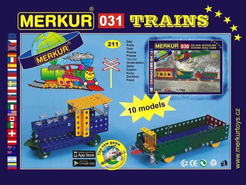 Metal construction set Merkur Railway models, 1 kg, NEW, made in CZECH REPUBLIC
