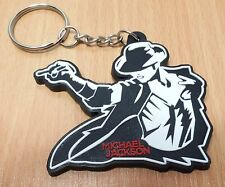 NEW MICHAEL JACKSON KEYCHAIN KEYRING RUBBER FOR UNISEX WITH CHARM DAY RU79