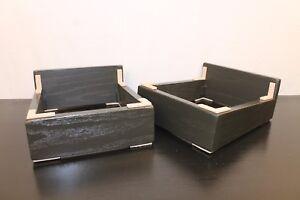 One-Pair-of-Beautiful-Black-3-4-034-Solid-Oak-Audio-Speaker-Stands