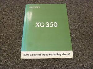 2004 hyundai xg350 sedan electrical wiring diagram troubleshooting manual l  3.5l | ebay  ebay
