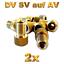 2-bicicleta-adaptador-de-valvulas-DV-SV-frances-en-auto-Dunlop-valvula-AV-automovil-bomba miniatura 1
