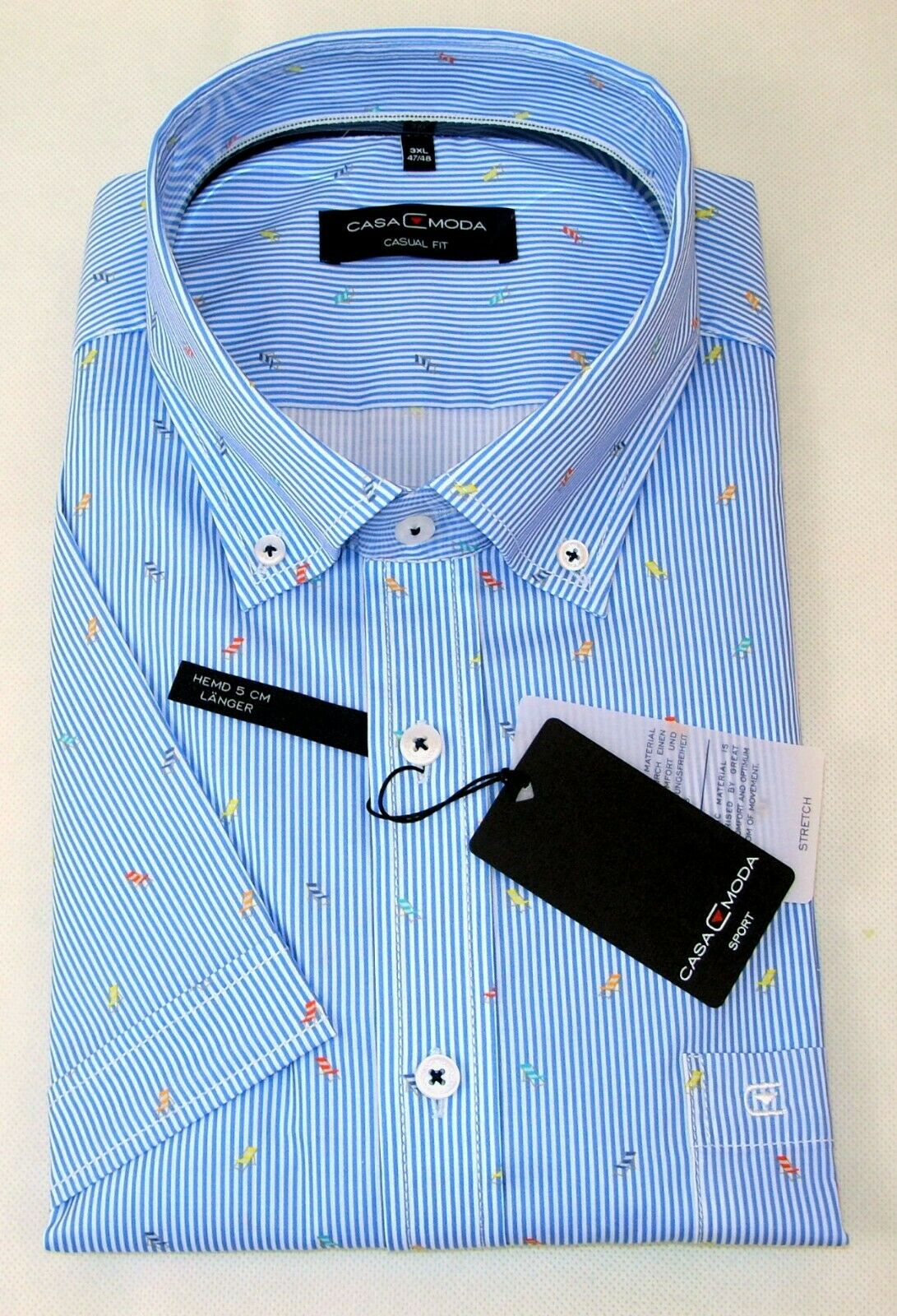Casa Moda Uomo Camicia Casual Fit Fit Fit dimensioni a maniche corte 3xl 4xl 5xl a Strisce Nuovo 822b1f