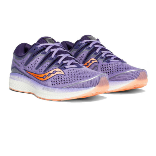 Orange Purple Saucony Womens Triumph ISO 5 Running Shoes Trainers Sneakers
