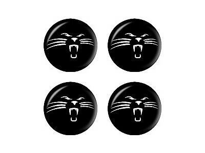 Panther Face Wheel Center Cap 3D Domed Set of 4 Stickers