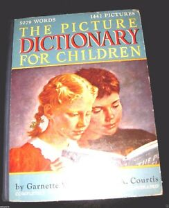 PICTURE-DICTIONARY-FOR-CHILDREN-1948-Waters-amp-Courtis-Illustrated-Revised-HC