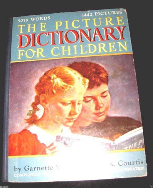 PICTURE DICTIONARY FOR CHILDREN 1948 - Waters & Courtis Illustrated  Revised HC