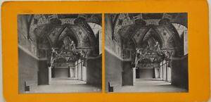 Roma-Vaticano-Sala-Ducale-Italia-Foto-Stereo-Vintage-Analogica-c1900