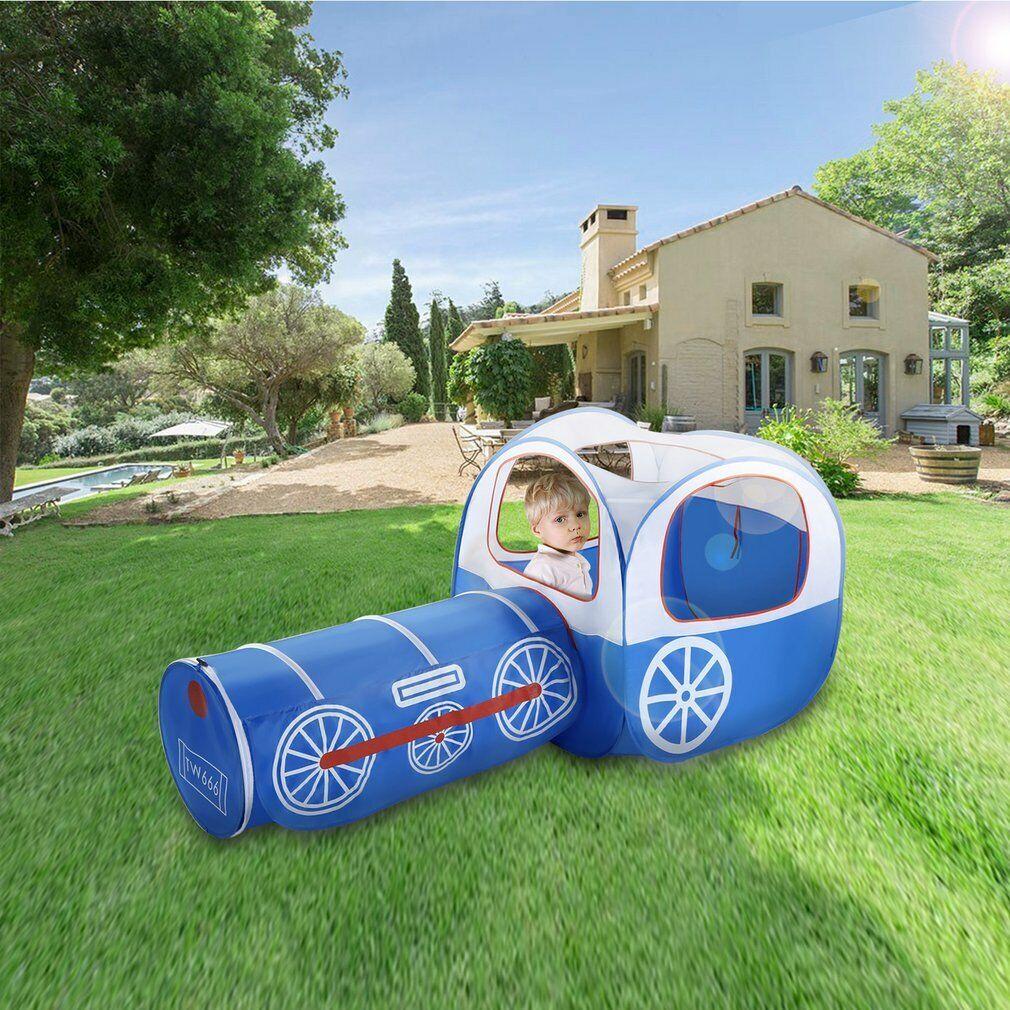 Details zu 3 in 1 Kinderzelt mit Tunnel Spielzelt Bällebad Pop up Zelt HJ