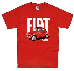 Classic Italian Fiat 500 T Shirt vintage retro car design cool ...