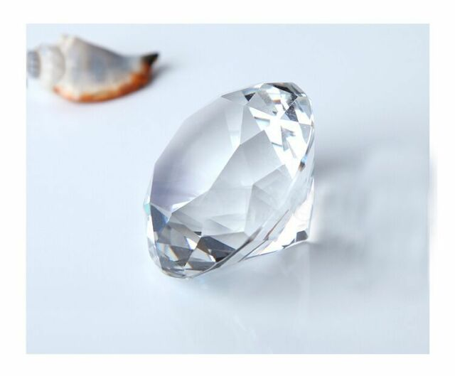 Crystal Diamond Big Glass Party Decoration Romantic Proposal Home Gift Fancy K9