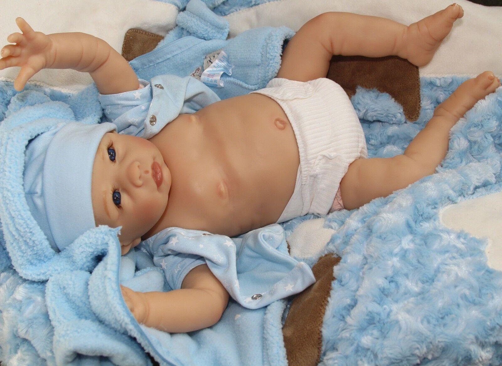 Perro-Gone lindo   realista Coleccionable 20 pulgadas Muñeca Recién nacidos bebé niño