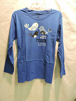 Womens Co3 Blue Joy Peace Love Long Sleeve Tee Shirt Plus Size 2x