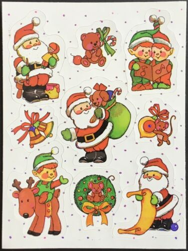 Christmas Vintage Russ Stickers Mint Condition!!
