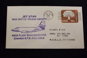 Espacio-Cubierta-1977-Maquina-Cancelado-Jet-Estrella-Shuttle-Aterrizaje-Prueba