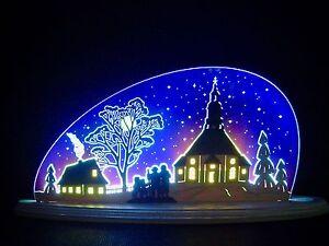 D led arco di luci plexiglas arcata con legno con sua chiesa